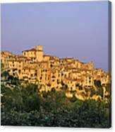 Sunset Over Vieux Nice - Old Town - France Canvas Print
