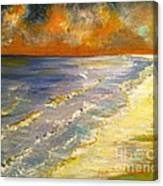 Sunset Passion At Cranes Beach Canvas Print