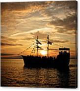 Sunset Pirate Cruise Canvas Print
