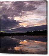 Sunset Reflected In A Lake Canvas Print
