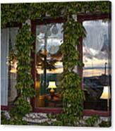 Sunset Reflection On Empress Window Canvas Print