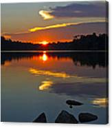Sunset Reflection On The Lake Canvas Print