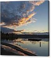 Sunset Ripples In Time Canvas Print