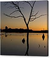 Sunset Riverlands West Alton Mo Portrait Dsc06670 Canvas Print