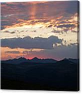 Sunset Rmnp Canvas Print