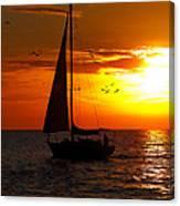 Sunset Sail Venice Florida Canvas Print