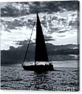 Sunset Sailing -2 Canvas Print