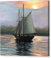 Sunset Sails Canvas Print