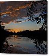 Sunset Scene At The River Canvas Print