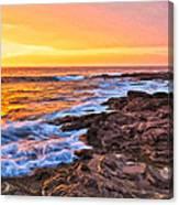 Sunset Shore Break Canvas Print