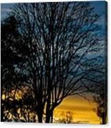 Sunset Silhouette Canvas Print