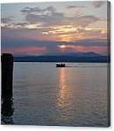 Sunset. Sirmione. Lago Di Garda Canvas Print