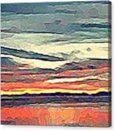 Davis Bay Sunset  Canvas Print
