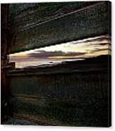 Sunset Throough The Fence Canvas Print