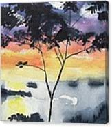 Sunset Tree Koh Chang Thailand Canvas Print