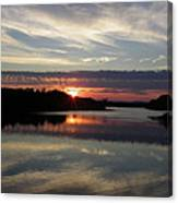 Sunset Up The Sebec Canvas Print