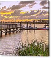 Sunset View Boardwalk Canvas Print