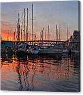 Sunset View From Charleson Park In Vancouver Bc Canvas Print