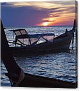 Sunset View From Sunset Beach On Ko Lipe Island In Thailand Canvas Print