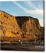 Sunset Walk At Flat Rock  La Jolla California Canvas Print