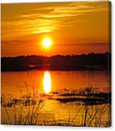 Sunset Walk In The Water Canvas Print