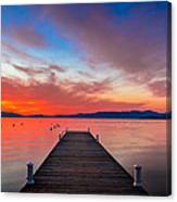 Sunset Walkway Canvas Print