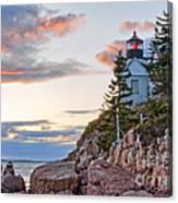 Sunset Watcher - Bass Harbor Head - Maine Canvas Print