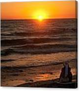 Sunset Watching Canvas Print