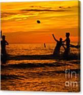 Sunset Water Football Canvas Print