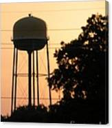 Sunset Water Tower Canvas Print