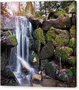 Sunset Waterfalls In Marlay Park Canvas Print