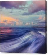 Sunset Wave. Maldives Canvas Print