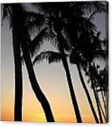 Sunset West Coast Of Maui Canvas Print