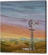 Windmill Sunset Canvas Print