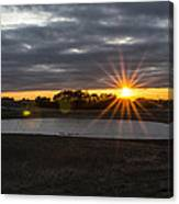 Sunset With Flair Canvas Print