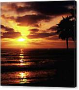 Sunset With Friends Canvas Print