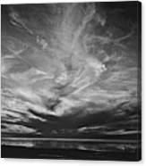 Sunset With No Color Canvas Print