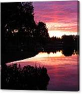 Sunset With Reflection Canvas Print