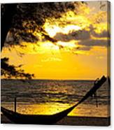Sunset With The Sea. Canvas Print