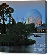 Sunset World Showcase Lagoon Canvas Print