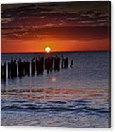 Sunset...naples Style Canvas Print