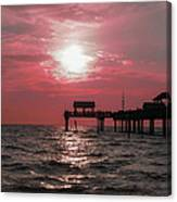 Sunsetting On The Gulf Canvas Print