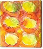 Sunshine Circles Canvas Print