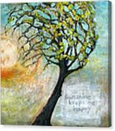 Sunshine Keeps Me Happy Canvas Print