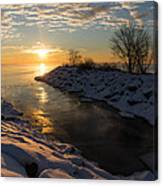 Sunshine On The Ice - Lake Ontario Toronto Canada Canvas Print