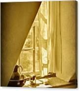 Sunshine Through The Window Canvas Print