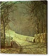 Sunshine Through Winter Trees Canvas Print