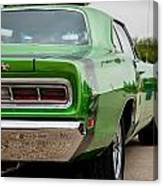 Super Bee In Green Canvas Print
