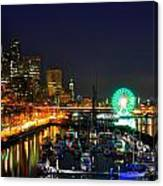 Super Bowl Eve In Seattle Canvas Print
