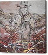 Super Cowboy Canvas Print